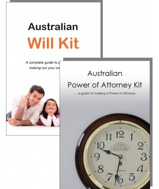 Australian Will Kit and Power of Attorney Combination Pack - for one adult