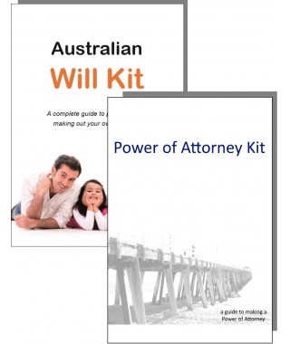 Australian will kit legal throughout australia guardianship of australian will kit and power of attorney combination pack for one person solutioingenieria Choice Image