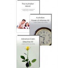 Advance Care Directive Kit, Power of Attorney Kit & Australian Will Kit for two adults