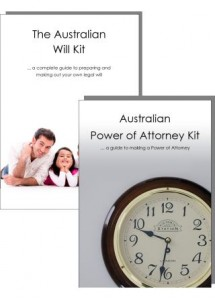 Australian Will Kit and Power of Attorney Combination Pack - for two adults