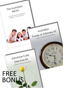 Australian Will Kit & Power of Attorney Combo pack for two adults with BONUS FREE Advance Care Directive kit