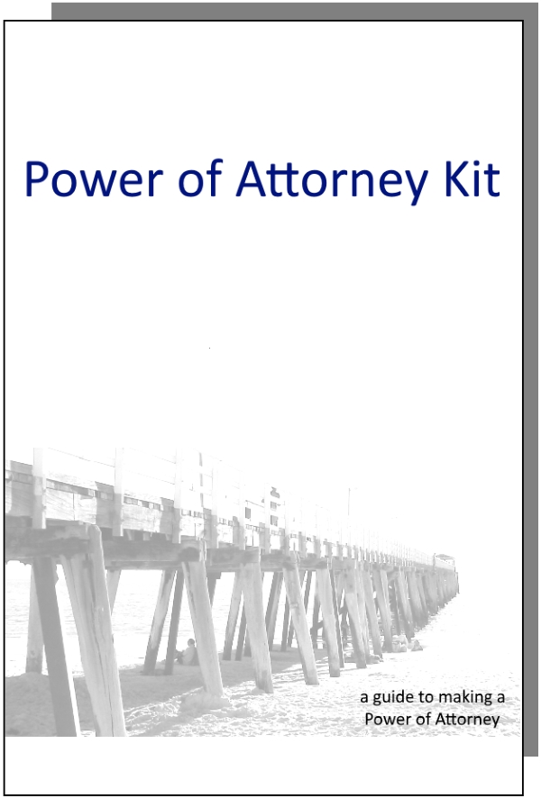 Australian Power Of Attorney Kit For One Person Enduring General