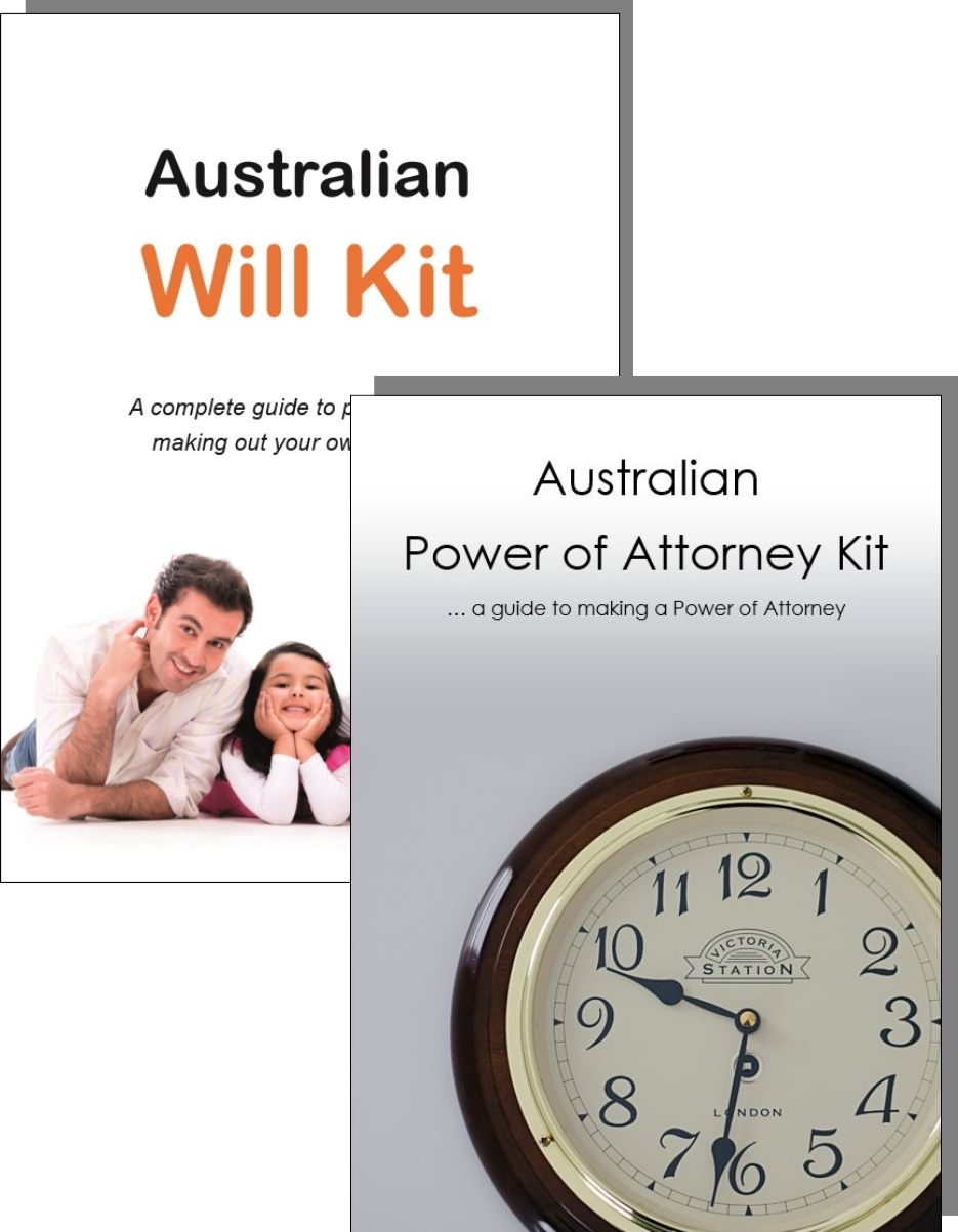 Australian Will Kit and Power of Attorney Kit covers
