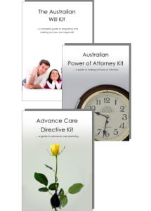 Australian Will Kit and Power of Attorney kit and Advance Care Directive kit cover image only