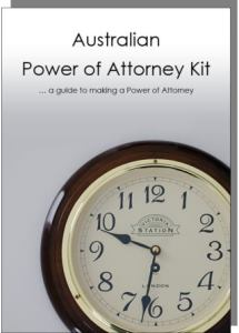 The Australian Power of Attorney Kit - click here for more information